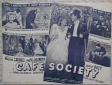 Cafe Society, Flyer/Herald, Madeleine Carroll, Fred MacMurray, '39